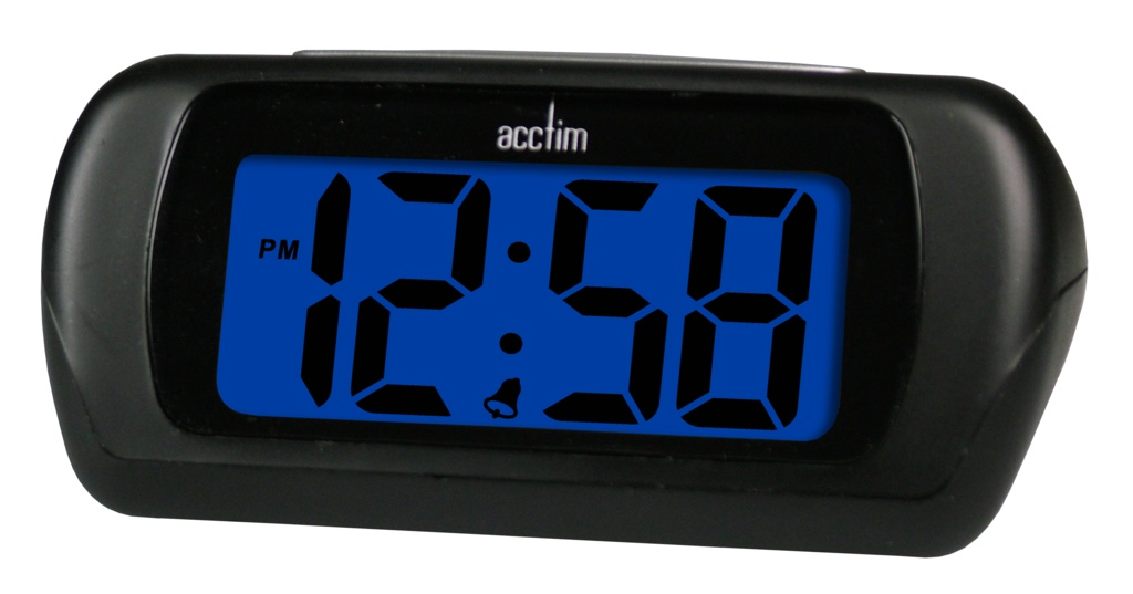 Acctim Auric LCD Clock Black