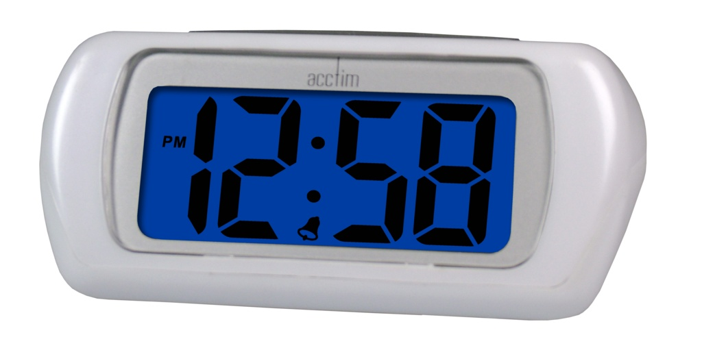 Acctim Auric LCD Clock White