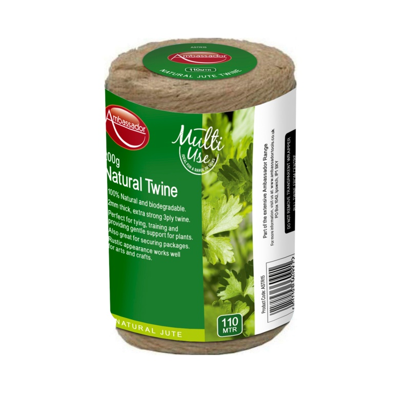 Ambassador Natural Jute Spool 3 Ply 200gm/110m
