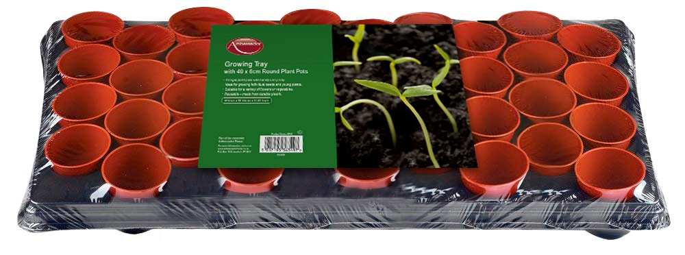 Ambassador Growing Tray With 40 Round Pots
