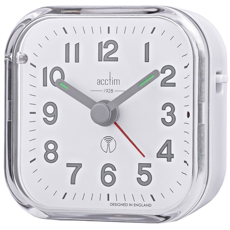 Acctim Fordham Alarm Clock White