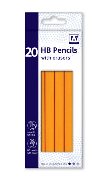 Anker Stat HB Pencils With Erasers Box 20