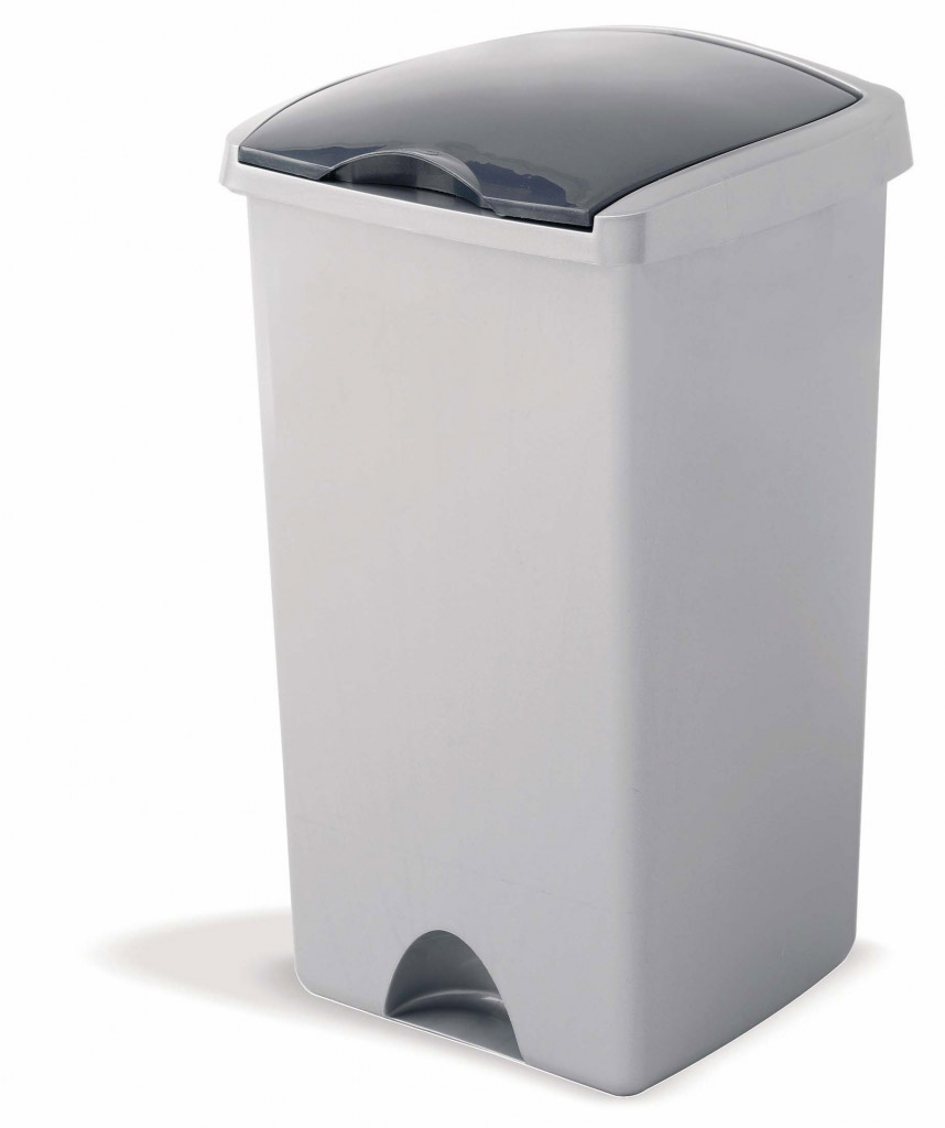 Addis Lift Top Bin 48L Metallic